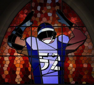Football Stained Glass