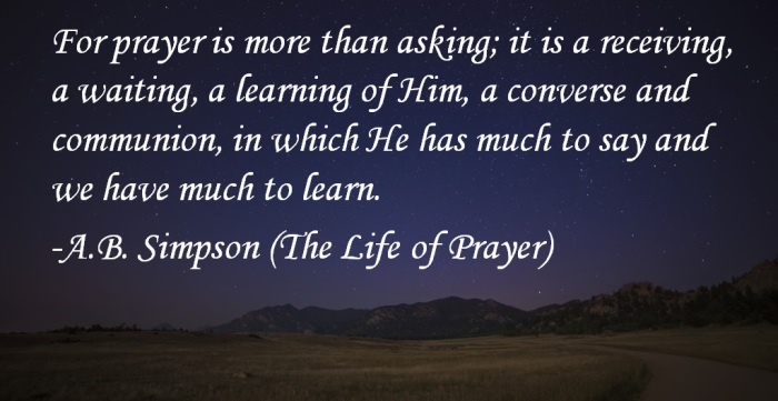 Prayer is More Than Asking